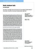 prikaz prve stranice dokumenta Bolni sindrom leđa