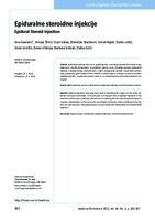 prikaz prve stranice dokumenta Epiduralne steroidne injekcije