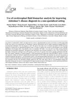 prikaz prve stranice dokumenta Use of cerebrospinal fluid biomarker analysis for improving Alzheimer's disease diagnosis in a non-specialized setting
