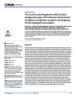 prikaz prve stranice dokumenta The murine cytomegalovirus M35 protein antagonizes type I IFN induction downstream of pattern recognition receptors by targeting NF-κB mediated transcription.