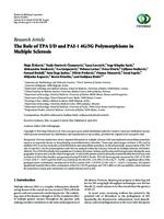 prikaz prve stranice dokumenta The role of TPA I/D and PAI-1 4G/5G polymorphisms in multiple sclerosis.