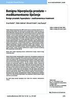 prikaz prve stranice dokumenta Benigna hiperplazija prostate - medikamentozno liječenje