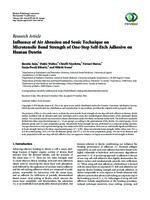 prikaz prve stranice dokumenta Influence of air abrasion and sonic technique on microtensile bond strength of one-step self-etch adhesive on human dentin