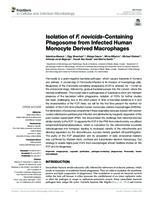 prikaz prve stranice dokumenta Isolation of F. novicida-Containing Phagosome from Infected Human Monocyte Derived Macrophages