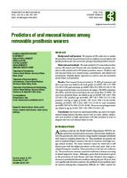 prikaz prve stranice dokumenta Predictors of oral mucosal lesions among removable prosthesis wearers