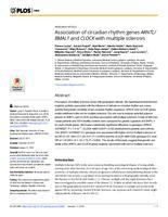 prikaz prve stranice dokumenta Association of circadian rhythm genes ARNTL/BMAL1 and CLOCK with multiple sclerosis