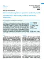 prikaz prve stranice dokumenta Učestalost karijesa u pacijenata upućenih na ortodontski pregled