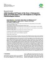 prikaz prve stranice dokumenta Adult Granulosa Cell Tumors of the Ovary: A Retrospective Study of 36 FIGO Stage I Cases with Emphasis on Prognostic Pathohistological Features