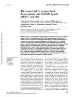 prikaz prve stranice dokumenta The herpesviral Fc receptor fcr-1   down-regulates the NKG2D ligands   MULT-1 and H60