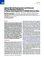 prikaz prve stranice dokumenta Altered NK Cell Development and Enhanced NK Cell-Mediated Resistance to Mouse Cytomegalovirus in NKG2D-Deficient Mice