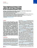 prikaz prve stranice dokumenta Type I Interferons Protect T Cells against NK Cell Attack Mediated by the Activating Receptor NCR1