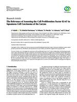 prikaz prve stranice dokumenta The Relevance of Assessing the Cell Proliferation Factor Ki-67 in Squamous Cell Carcinoma of the Larynx