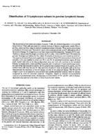 prikaz prve stranice dokumenta Distribution of T -Iymphocyte subsets in porcine lymphoid tissues