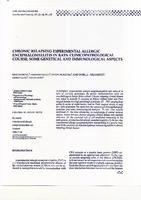 prikaz prve stranice dokumenta CHRONIC RELAPSING EXPERIMENTAL ALLERGIC ENCEPHALOMYELITIS IN  RATS: CLINICOPATHOLOGICAL COURSE, SOME GENETICAL AND  IMMUNOLOGICAL ASPECTS