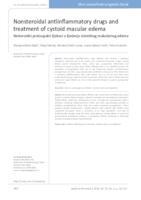 prikaz prve stranice dokumenta Nesteroidni protuupalni lijekovi u liječenju cistoidnog makularnog edema