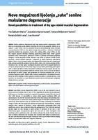 """prikaz prve stranice dokumenta Nove mogućnosti liječenja """"suhe"""" senilne makularne degeneracije"""