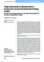 prikaz prve stranice dokumenta Uloga Laboratorija za tipizaciju tkiva u povijesnom razvoju transplantacije bubrega u Rijeci