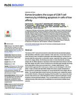prikaz prve stranice dokumenta Eomes broadens the scope of CD8 T-cell memory by inhibiting apoptosis in cells of low affinity