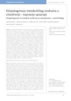 prikaz prve stranice dokumenta Etiopatogeneza metaboličkog sindroma u shizofreniji – najnovije spoznaje