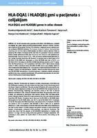 prikaz prve stranice dokumenta HLA-DQA1 i HLADQB1 geni u pacijenata s celijakijom