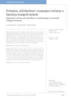 prikaz prve stranice dokumenta Primjena, učinkovitost i nuspojave zračenja u liječenju malignih bolesti