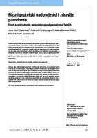 prikaz prve stranice dokumenta Fiksni protetski nadomjestci i zdravlje parodonta