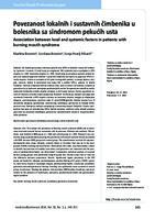 prikaz prve stranice dokumenta Povezanost lokalnih i sustavnih čimbenika u bolesnika sa sindromom pekućih usta