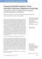 prikaz prve stranice dokumenta Povezanost kliničkih simptoma i minor anomalija u bolesnika s dijagnozom shizofrenije