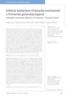 prikaz prve stranice dokumenta Infekcije bakterijom Chlamydia trachomatis u Primorsko-goranskoj županiji