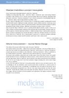 prikaz prve stranice dokumenta Obavijest Uredništva o promjeni imena glasila