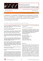 prikaz prve stranice dokumenta Endoscopic retrograde cholangiopancreatography-induced and non-endoscopic retrograde cholangiopancreatography-induced acute pancreatitis: Two distinct clinical and immunological entities?